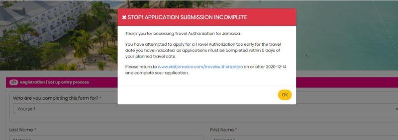 Ausfüllhilfe für die Reisegenehmigung nach Jamaika