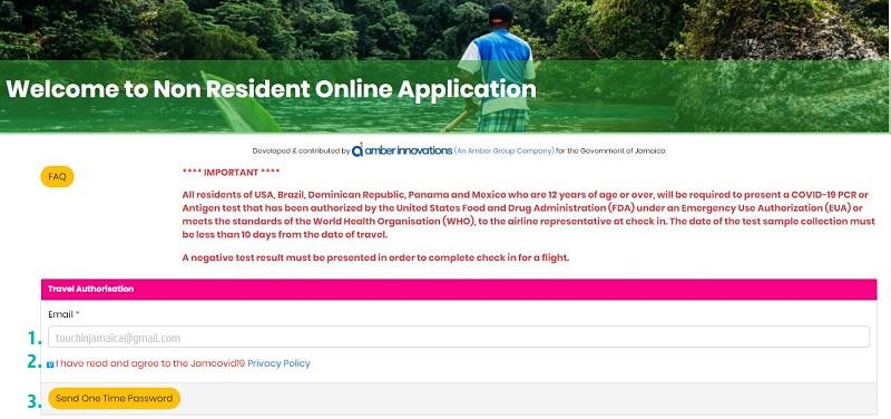 Travelauthorization Jamaika Ausfüllhilfe für die Reisegenehmigung