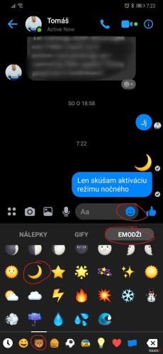Tmavý režim v Messengeri