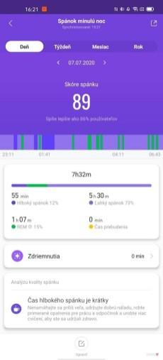 Xiaomi Mi Band 5, aplikácia Mi Fit