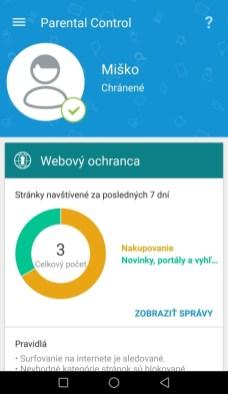 Správa o používaní webu