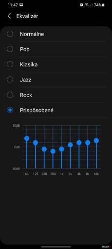 Samsung One UI nastavenie zvuku