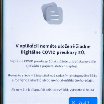 Pridanie Digitálneho COVID preukazu EÚ