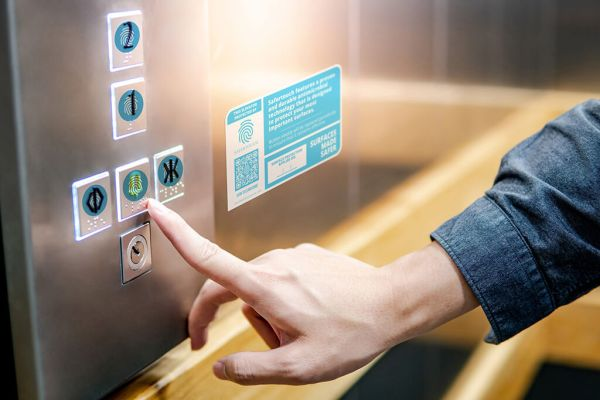 Antimicrobial Elevator Buttons
