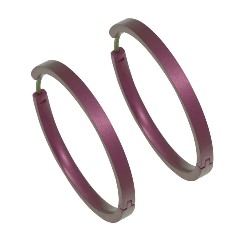 Hypoallergenic hoop earrings large on TouchTitanium.com