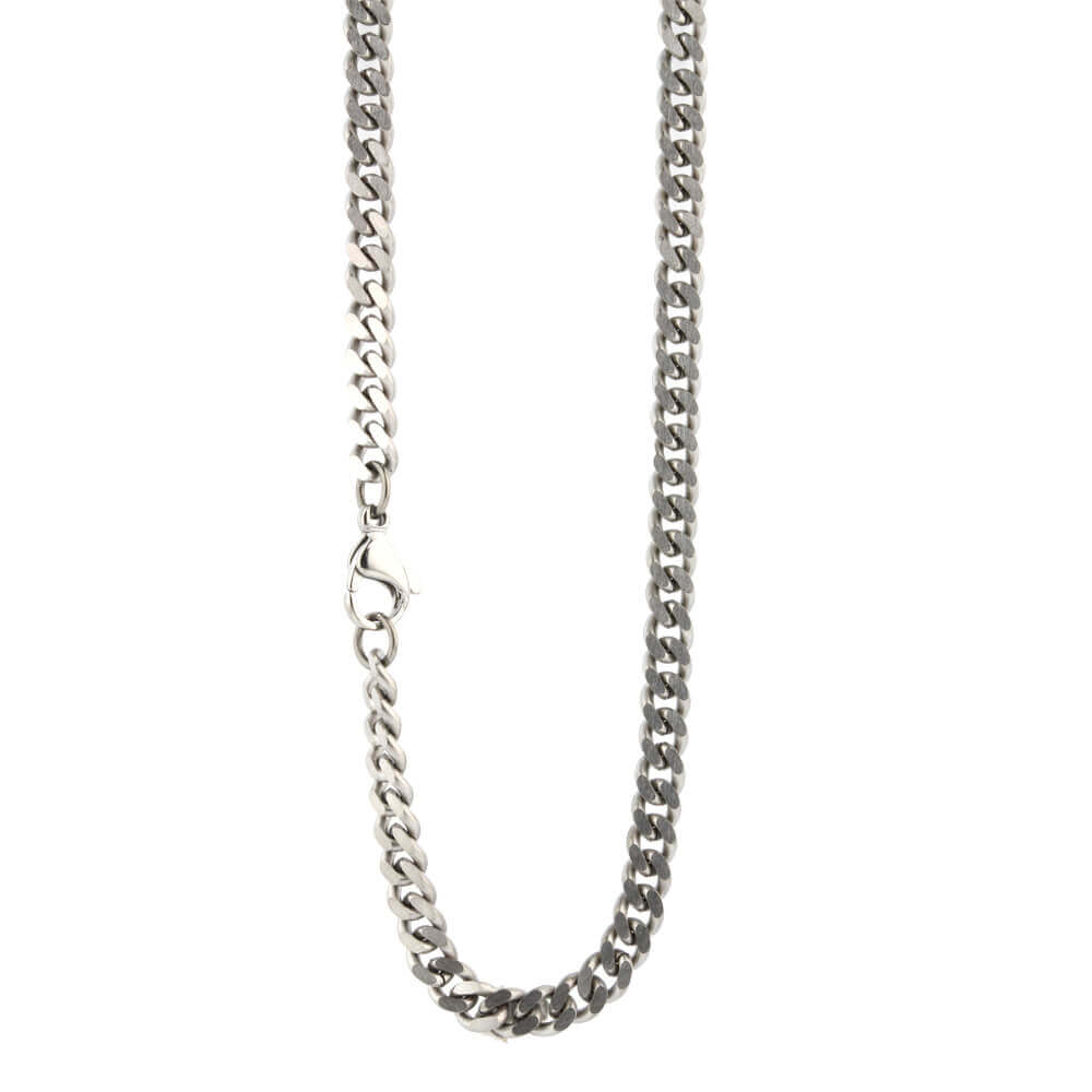 Chunky titanium comfort chain on TouchTitanium.com Made from 100% hypoallergenic titanium, very strong and light weight despite it's thickness. Available in a range of sizes. Our products are designed to fit in with your lifestyle.