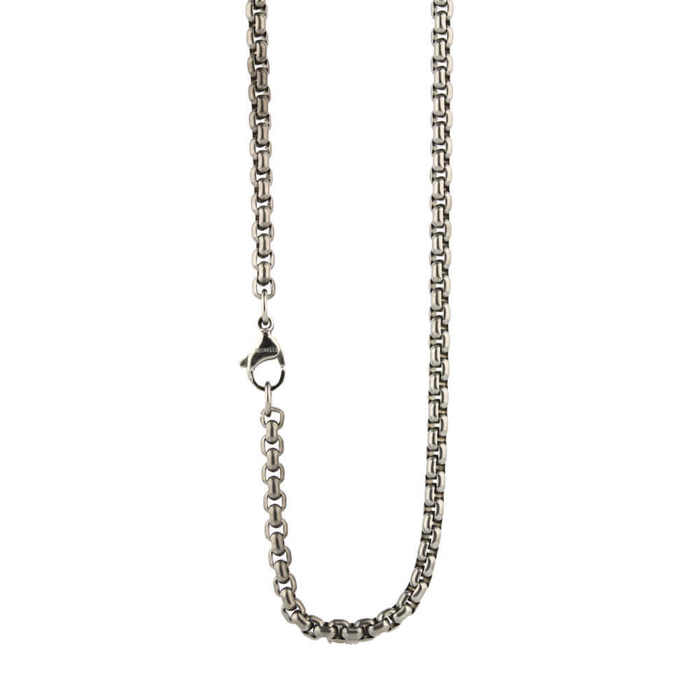 Medium Venetian Inka chain on TouchTitanium.com Stylish, iconic and comfortable titanium necklace chain. Made from 100% hypoallergenic titanium. Made to order. Lightweight and comfortable to wear. Our products are designed to fit in with your lifestyle.