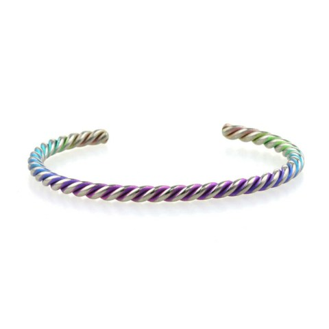 Magical unicorn horn titanium bangle from TouchTitanium.com