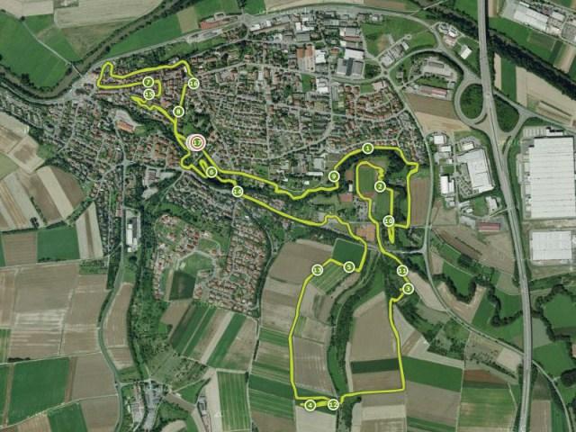 Hindernislauf Baden-Württemberg, Motorman Run 2015, Streckenverlauf