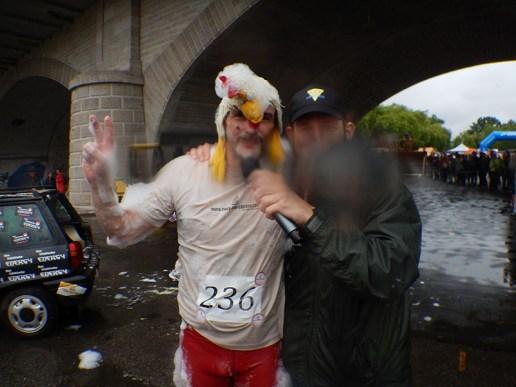 Hindernislauf Bayern, Rock.Race 2015, Tough Chicken beim Interview
