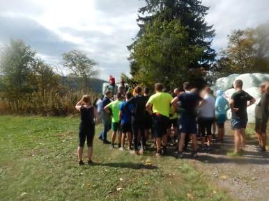 Hindernislauf Baden-Württemberg, Rothaus Mudiator Run 2015, Hindernis Strohballen