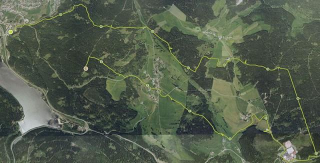 Hindernislauf Baden-Württemberg, Rothaus Mudiator Run 2015, Streckenverlauf 2015