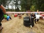 Hindernislauf Bayern, Runterra 2015, Erstes Kriechhindernis nach dem Start