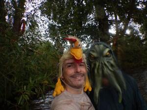 Hindernislauf Bayern Runterra 2015 Selfie Seemonster mit Tough Chicken