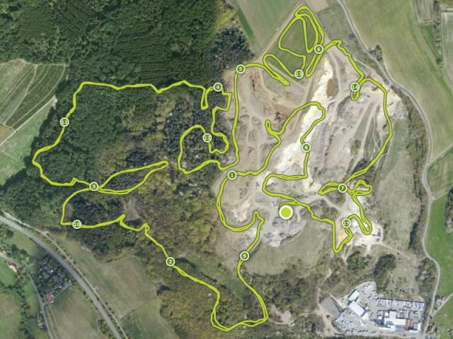 Hindernislauf Hessen, Bad Wolf Dirt Run 2015, Streckenverlauf