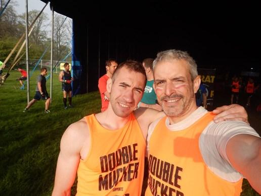 Hindernislauf England, Rat Race Dirty Weekend 2016, Selfie Alex und Tough Chicken