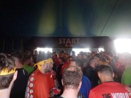 Hindernislauf England, Rat Race Dirty Weekend 2016, Startzelt
