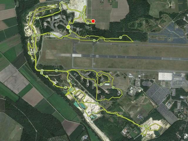 Mud Masters Obstacle Run, Weeze, Streckenverlauf 18 Kilometer Strecke