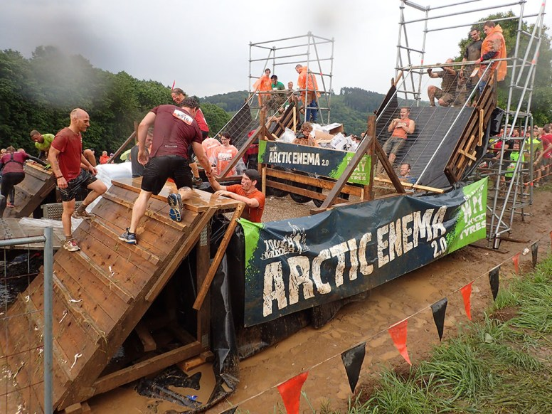 Tough Mudder, Hindernislauf NRW, Hindernis Arctic Enema 2.0