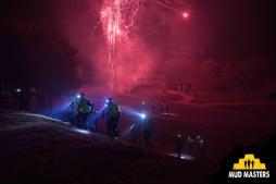 Mud Masters Obstacle Run Night Shift, Hindernislauf Deutschland, Hindernis Bunker Busters nach dem Start