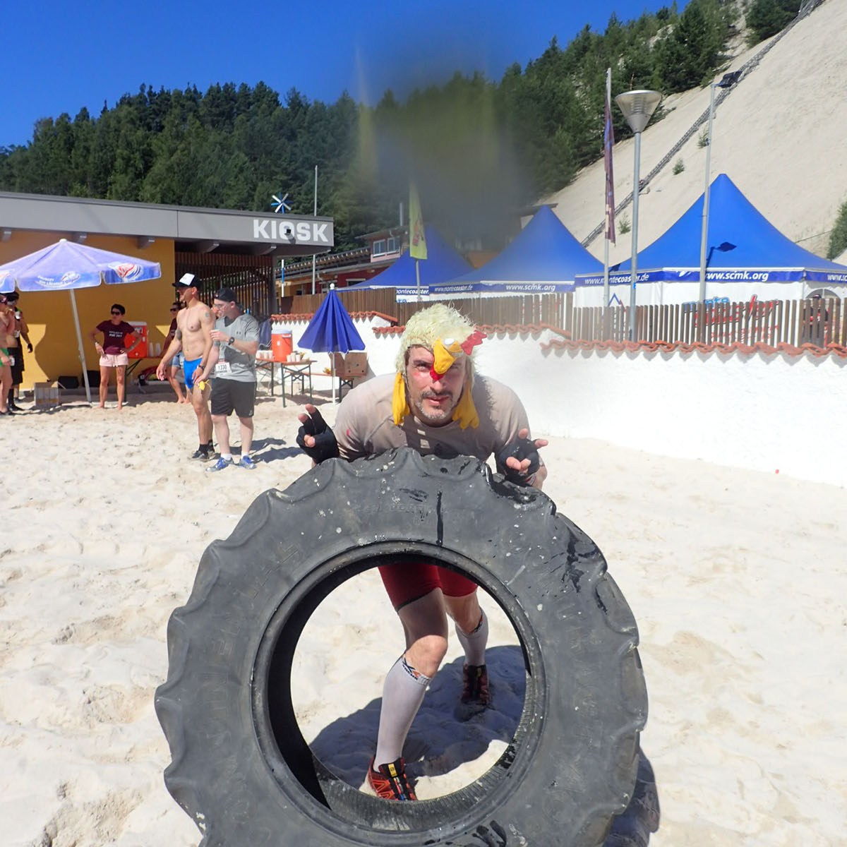 Sandblaster Run, Hindernislauf Deutschland, Hindernis Tire Flip