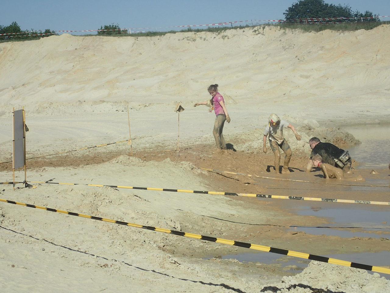 Mud Masters Family Run, Hindernislauf Deutschland, Hindernis Mud Crawl Rückweg