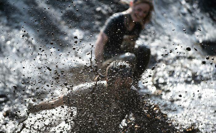 Lie Mud Run Bank Frick sponsort Schlammlauf