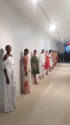 Statuesque models showing off the gorgeous designs from the collection.