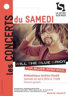 médiathèquendrée Chedid will the blue griot