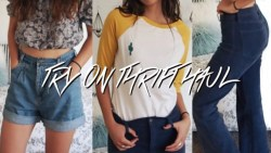 Come Thrifting With Me! TRY ON  THRIFT HAUL