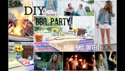DIY End Of Summer BBQ Party + Hair & Outfit!