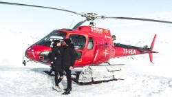 Romantic Helicopter Landing on Top of a VOLCANO in Iceland!