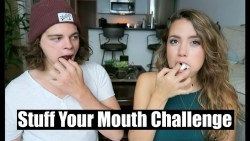 Stuff Your Mouth Challenge w/ Patrick! | TessChristine