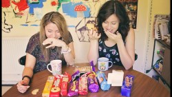 BRITISH BISCUIT TASTE TEST | w/ Laurbubble