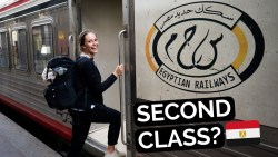 EGYPT TRAIN Second Class | Aswan to Luxor