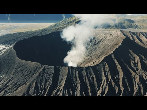 ACTIVE VOLCANO ERUPTION IN EAST JAVA, INDONESIA – Mount Bromo