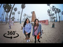 LEARNING to SKATEBOARD in VENICE (in 360° video)