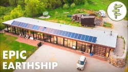 Man Living in a Sustainable & Innovative Earthship Home – Full Tour
