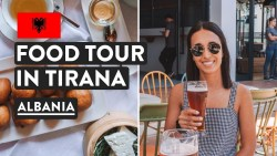ALBANIA 🇦🇱Food & First Impressions | Tirana Food Tour & Travel Vlog