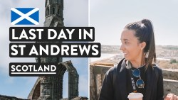LEAVING SCOTLAND  😢| St Andrews Cathedral & St Rules Tower | Fife Travel Vlog