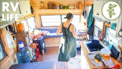 Woman's Low Cost Living in a Renovated Camper Trailer