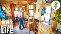 Retired Woman Builds Her Own Tiny House for Affordable Living