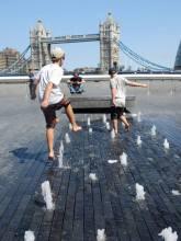 Water fun along SouthBank