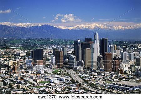 Los Angeles Skyline Mountains