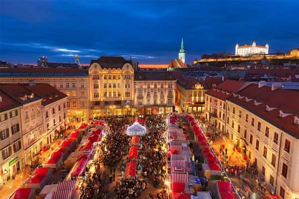 Новий год в Братиславі
