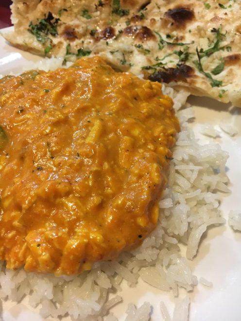 Shahi Paneer (my favorite!) and garlic naan at Delhi Palace (also my favorite!)