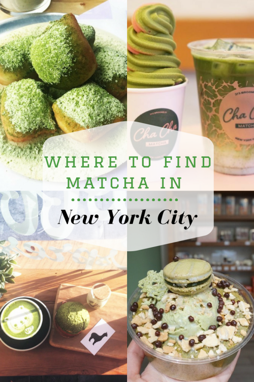 Where to find Matcha in New York City