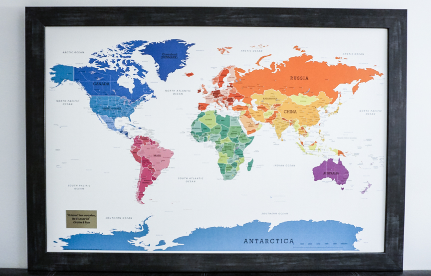 pinnable map of the world