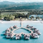 FIRST IMPRESSION OF OVERWATER BUNGALOWS AT SANDALS SOUTH COAST JAMAICA