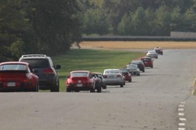 parade laps at Summit Point Raceway